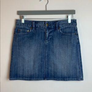 JCrew Stretch Blue Jean Skirt Size 4